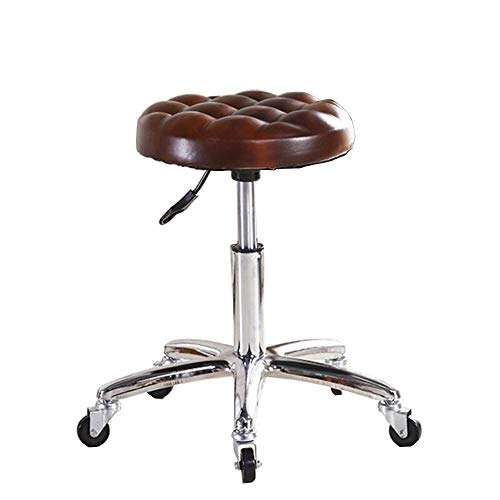 DJ Kitchen Bar chair Beauty kruk Barkruk Hoge kruk Barber kruk Computer Draaibare stoel Kruk Oppervlaktediameter 33 cm Multifunctionele kaptafel (Kleur: rood bruin) Bruin Rood
