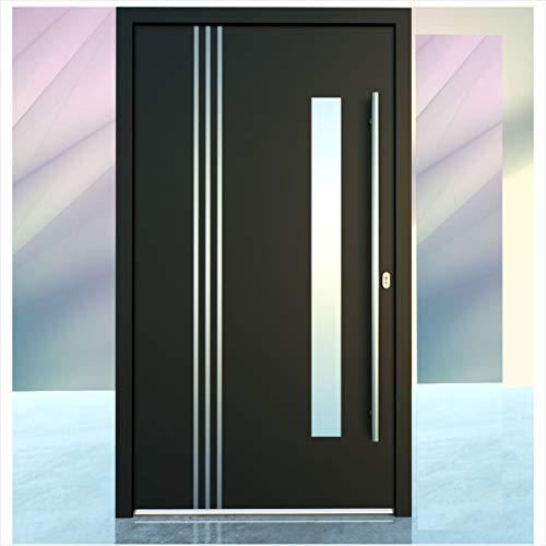 Haustür Welthaus WH75 Standard Aluminium mit Kunststoff LA122 BremenTür 1100x2100mm DIN Rechts Farbe aussen anthrazit Innen weiß außengriff BGR1400 innendrucker M45 Zylinder 5 Schlüßel