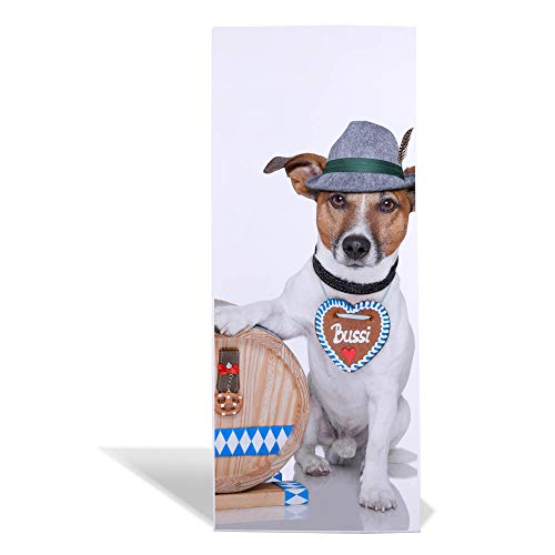 banjado Design Magnettafel 75x30cm groß | Memoboard mit Magneten | Metall Pinnwand magnetisch | Magnetboard mit Motiv Bayer Jack Russel | Magnetwand für Küche, Büro oder Kinderzimmer