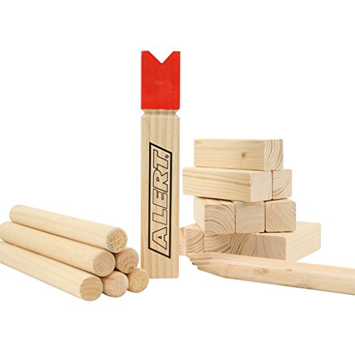 Alert Kubb Real-Wood Vikings Game Toss Game 22tlg. NEW