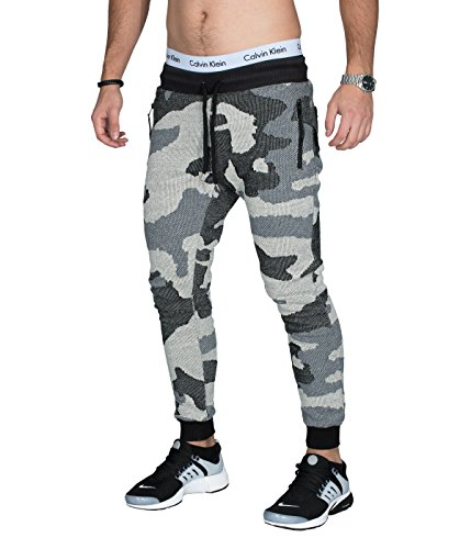 BetterStylz heren joggingbroek CARPARBZ in slim fit camouflage patroon