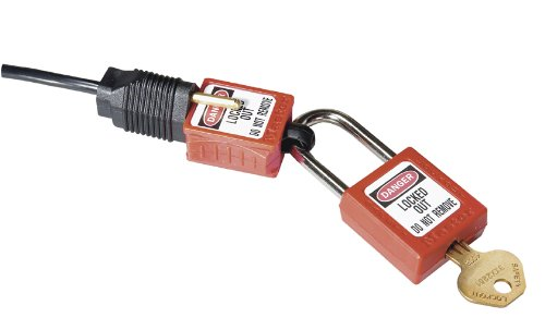 Master Lock Lockout Tagout Device, Electrical Prong Plug Lockout Device, 110 and 120 Volts, S2005