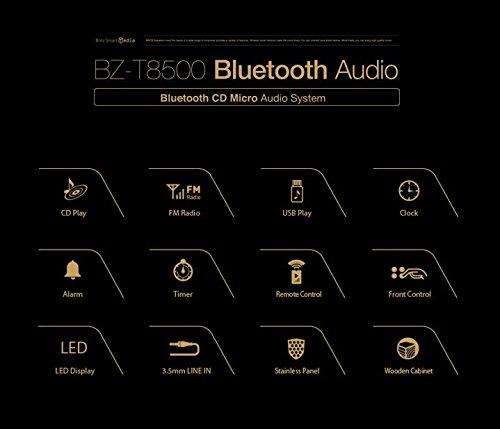Britz Premium Bluetooth CD Micro Audio System All in one BZ-T8500 CD/Line in/USB/FM/Bluetooth