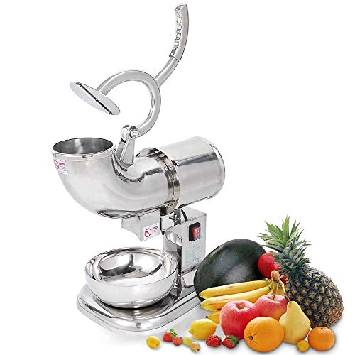 DragonPad Commercial Ice Shaver Crusher Machine Shaved Snow Cone Maker 440 Pounds Per Hour