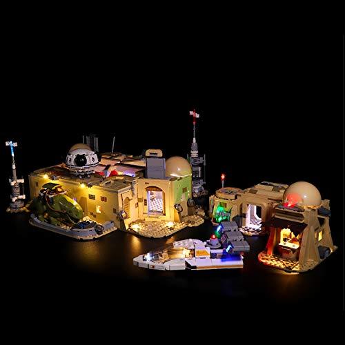 UUK Kit de Luces para Lego 75290, Juego de iluminación LED Compatible con Bloques de construcción de Star Wars Mos Eisley Cantina, Instrucciones en inglés, Regalos para niños y Adultos (Solo luz)