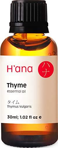 Ätherisches Thymian Öl (30ml) - 100% rein und zur therapeutischen Anwendung, zur Behandlung von Haut & Haaren und für den Aroma Diffusor