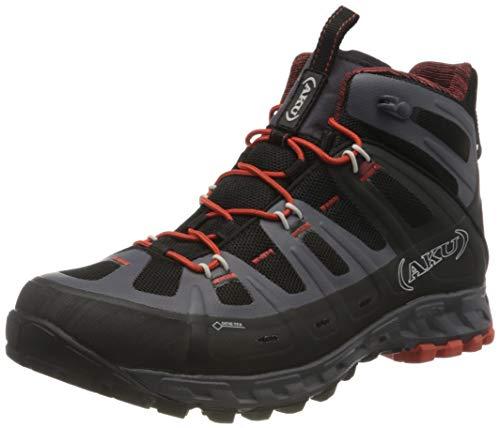AKU Selvatica Mid GTX, Botas de montaña Hombre, Negro/Rojo, 44.5 EU