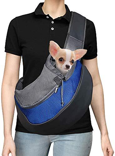 Voarge Bolsa bandolera para animales domésticos, transportín de paseo ideal para perros de talla pequeña o gatos, bolsa de transporte para gatos y perros, ideal para perros o gatos pequeños