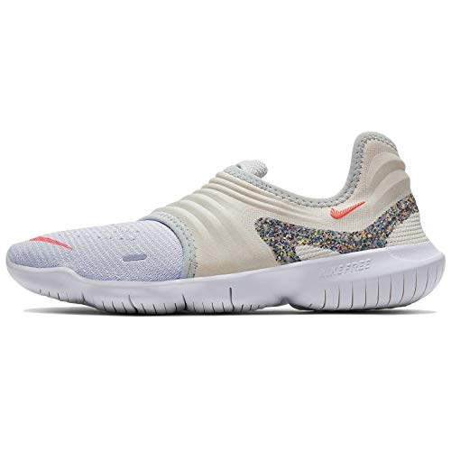 Nike Women's W Free Rn Flyknit 3.0 Aw Competition Running Shoes, Pure Platinum/Summit White/Lava Glow, 4.5 UK