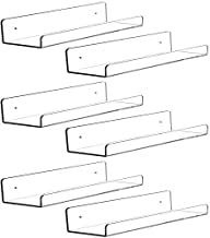 6 PCS Acrylic Invisible Floating Bookshelf for Kids Room,15 inch Modern Picture Ledge Display Toy Storage Wall Shelf 5MM T...