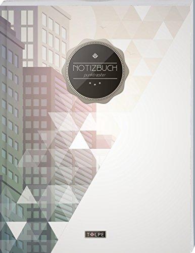 """TULPE Punktraster Notizbuch A4 """"C099 Business"""" (140+ Seiten, Vintage Softcover, Punktkariertes Papier - Bullet Journal, Dickes Notizheft, Skizzenbuch, Tagebuch, Gepunktete Seiten, Dot Grid Notebook)"""
