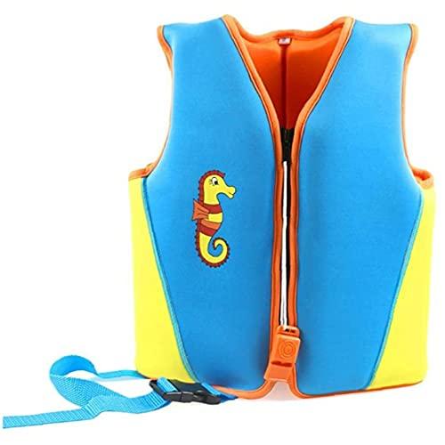 Deportes acuáticos M chaqueta azul de natación niños nadar chaleco de flotación Traje de baño de los bebés niñas chaqueta de natación de neopreno flotabilidad del chaleco Floation Traje de baño