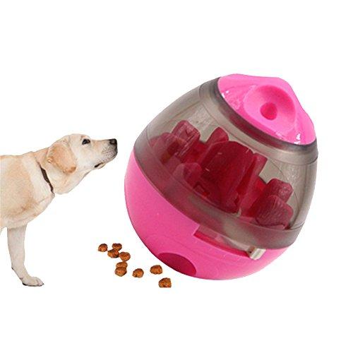 Dispensador de comida para mascotas de XiaoRui, dispensador de alimentos que es a su vez un juguete interactivo, ideal para gatos y perros