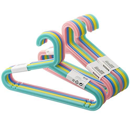 Ikea BAGIS - Perchas infantiles (24 unidades), colores pastel
