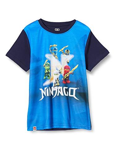 LEGO Jungen Cm Ninjago T-Shirt, Blau (Dark Navy 590), (Herstellergröße:128)