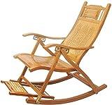 Jfdjhjtwt Sillón reclinable Ajustable Mecedora cómoda y Relajante con reposabrazos y reposapiés de Masaje - Mecedora Plegable para Adultos con Almuerzo