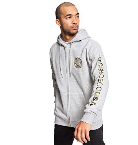 DC Apparel Herren Sweatshirt Circle Star, Grey Heather/camo, L, EDYSF03216