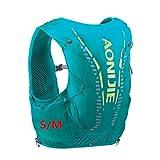 AONIJIE Veste de randonnée avec sac à dos de sport de 12L intégré, légère, pour le plein air, les marathons, la course à pied, le cyclisme, Vert menthe S/M
