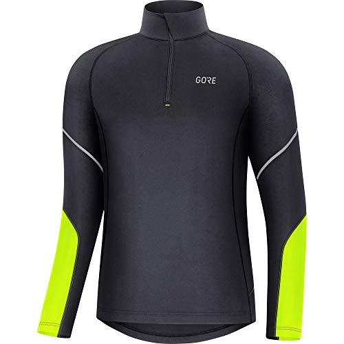 GORE WEAR M Herren Langarm-Shirt, XL, Schwarz/Neon-Gelb
