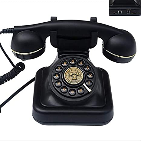 Home Old Phone Intuition Reinforced Corded Single Phone With Extra Loud Call Sound Landline Phone With 1 Handset Black Amazon De Electronics Photo