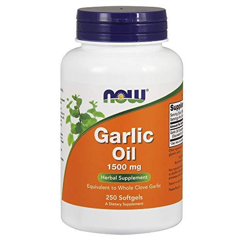 Now Foods Garlic Oil Knoblauchöl 1500mg - 250 Softgelkapseln