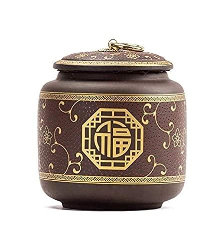 TYHZ Cremación Urnas Mini URNS de cremación URNS de cremación de mascotas, recuerdo de cerámica hecha a mano, urnas conmemorativos graves para la cremación de la cremación de cenizas humanas y de masc