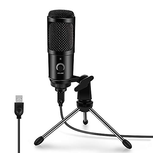 ARCHEER USB Mikrofon, PC Laptop Kondensator Microphone Gute Aufnahme Mikrofon Computer Recording Mic für Video, Broadcast, Podcast, YouTube, Streaming, Windows und MAC