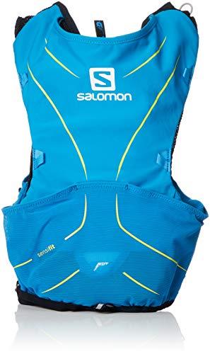 Salomon ADV Skin 5 Set Mochila Ligera de hidratación para Corriendo/Senderismo, Capacidad 5 L, Unisex Adulto, Azul (Hawaiian Surf/Night Sky), XL