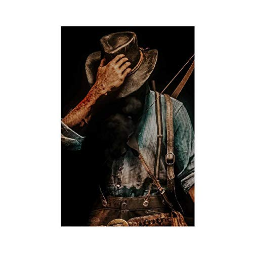 Arthur Morgan Canvas Poster Wall Art Decor Print Picture Paintings for Living Room Bedroom Decoration 20×30inch(50×75cm) Unframe-style1