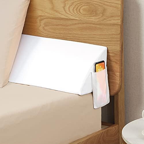 """VEKKIA King Size Bed Wedge Pillow/Headboard Pillow/Mattress Wedge/Bolster Pillow Close The Gap Between Your Mattress and Headboard(White 76""""x8""""x6"""")"""