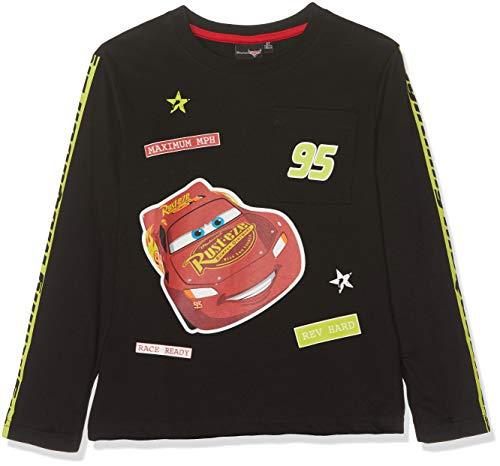 Disney Cars 1694 T-Shirt, Noir (Noir Noir), (Taille Fabricant:8 Ans) Garçon