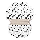PADDIES Parches protectores contra el sudor · Parches Anti-sudor · Parches para axilas · Máximo confort · Protección 12 h · Protege tus prendas · Talla S 14 Paddies)