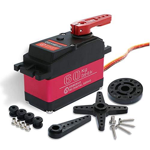 TMIL Wasserdicht 1Piece 8.4V High Voltage 60Kg Digital Servo Für DIY 1/5 RC Benzinauto SAVOX-0236 LOSI XL 5T Roboterarm,180degree