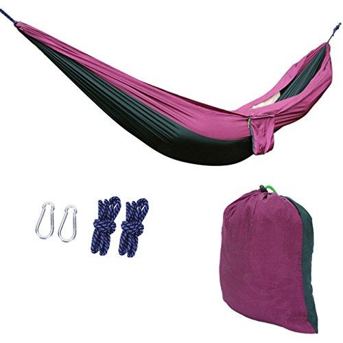 MMM& Tissu de parachute léger Hamac Outdoor Camping Étudiant Chambre de repos Chambre à coucher Swing Indoor Hanging Chairs ( Couleur : Violet , taille : 265*140cm )