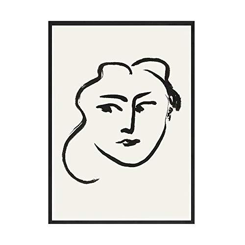 Retro abstracto Matisse minimalista cartel de arte de pared impresiones pared arte imagen familia sin marco lienzo decorativo pintura A3 70x100cm