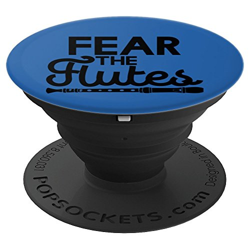 FEAR THE FLUTES Music Design | Marching Band Art Gift PopSockets Grip and Stand for Phones and Tablets