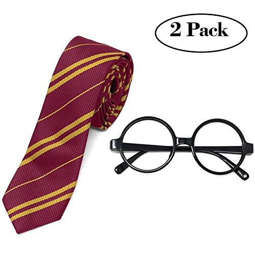 Tacobear Kit d'accessoires pour déguisement Halloween cravate et paire de lunettes pour enfants et adultes