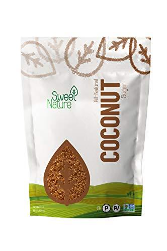 Sweet Nature Coconut Sugar Gluten Free Organic Non GMO Kosher Keto Friendly 3 lb, 48 Ounce