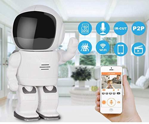 L.TSA Cámara inalámbrica Smart WiFi Home Infrarrojo Visión Nocturna Máquina integrada Red HD Teléfono móvil Monitor Remoto Compatible con Android/iOS