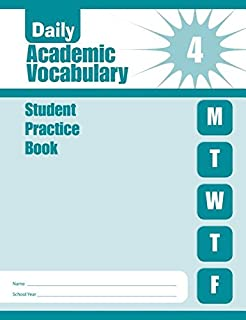 Daily Academic Vocabulary, Grade 4 Individual Student Practice Book