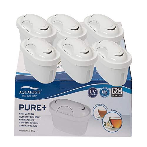 Aqualogis Pure+ Cartouche Filtrante Compatible avec Brita Maxtra+ Maxtra Style, Marella, Style, Fun (6)
