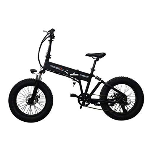 Jun Bicicleta De Ciudad Eléctrica Plegable 48V10AH, (Batería De Litio Móvil) Bicicleta De Montaña para Adultos De Nieve De Aleación De Aluminio De 20 Pulgadas