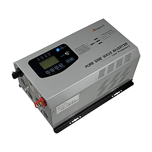 3000W Peak 9000watts Pure Sine Wave Power Inverter DC 24V to AC 110V Output Converter with Battery AC Charger,Off Grid Low Frequency Solar Inverter for Lithium, Sealed,AGM, Gel,and Flooded Batteries