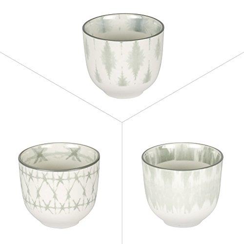 Table Passion - Lot de 3 gobelets a the 10 cl porcelaine kosha assortis