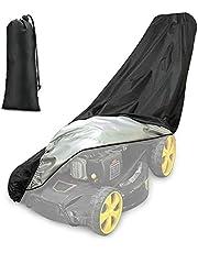 Achort Gazonmaaier, waterdichte stofdichte anti-UV grasmaaier Cover 190T met trekkoord en opbergtas voor buiten/binnen 74 * 39 * 25 inch