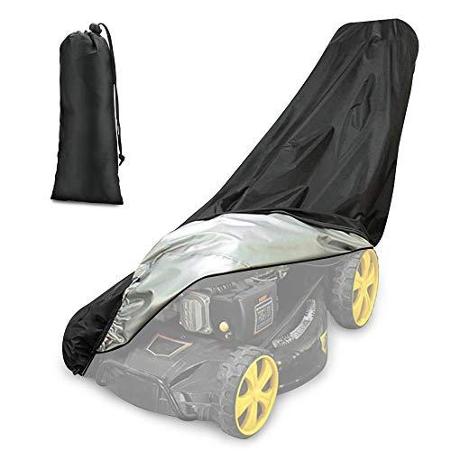 Achort Housse pour tondeuse à gazon, étanche, anti-poussière et anti-UV, en 190T, avec cordon de serrage et sac de rangement pour extérieur/intérieur - 188 x 99 x 63,5 cm