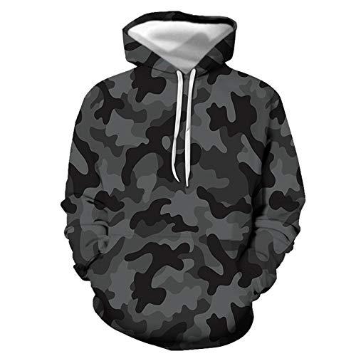 Mannen Hoodies, 3d Printing Camouflage Mannen Hoodie Sweatshirts met Grote Zak Elasticiteit Xxs 7XL Anti-rimpel Mannen Hooded Trui