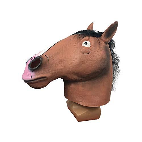 ZHANGXIAOYU Horsehead Conjuntos de máscaras de Dibujos Animados Tocado Animal Lindo Hacen Pasar Objetos Graciosos (Color : Yellow)