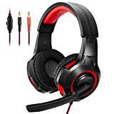 Wingstime Gaming Headset for PS4 PS5 Xbox ONE PC Laptop Nintendo Switch with Microphone, Over Ear...