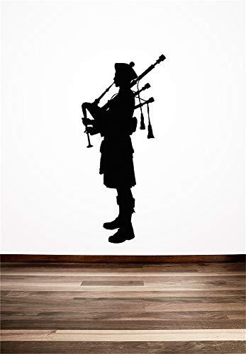 Wandtattoo Wohnzimmer Dudelsackspieler schottischen kreative Schottland englischen Stil Home Room Cool Art Wall Murals Aufkleber Wohnzimmer Babyzimmer